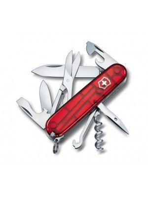 Briceag multifunctional Victorinox Climber (Swiss Army) rosu transparent