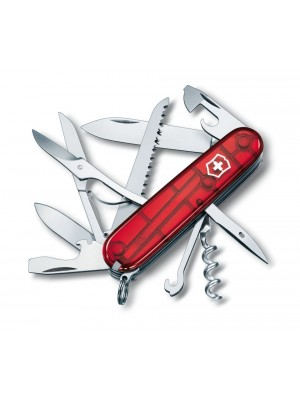 Briceag multifunctional Victorinox Huntsman (Swiss Army Knives) Rosu transparent