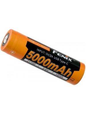 Fenix ARB-L21-5000U, Acumulator 21700, Li-Ion, Reîncărcabil USB-C, 5000mAh