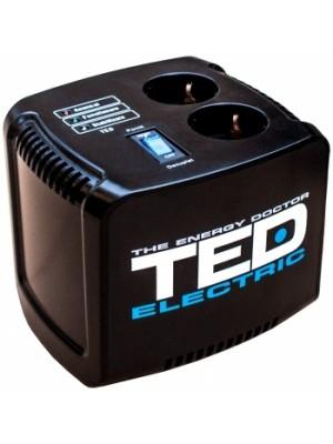 TED Electric, Stabilizator de tensiune, AVR, 500VA, Negru