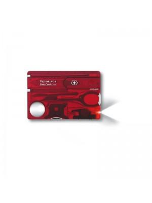 Victorinox SwissCard Lite, Multi-Tool Roșu transparent