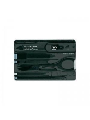Victorinox SwissCard Onyx, Multi-Tool Negru transparent