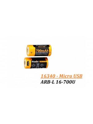 Fenix ARB-L 16-700U - 700mAh (Acumulator 16340)