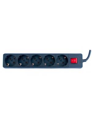 TED Electric, Prelungitor 5 prize schuko + Intrerupator cablu, 3x1.5mm