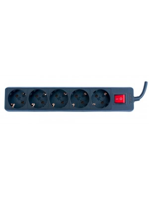 TED Electric, Prelungitor 5 prize schuko + Intrerupator cablu, 3x1mm