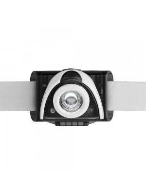 Led Lenser SEO5 Gri, Lanterna Frontală, Led Alb, 180 Lumeni, 120 Metri, Led Rosu