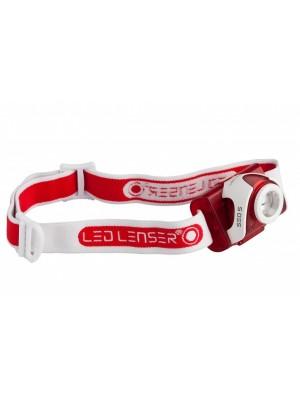 Lanterna frontala LED Lenser SEO5 rosu