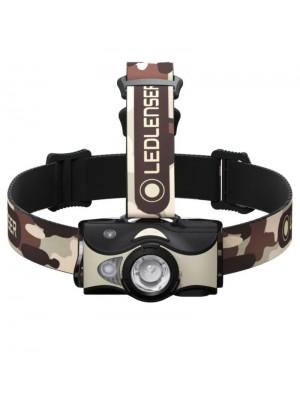 Led Lenser MH8, Lanternă Frontală, Reîncărcabilă USB, 600 Lumeni, 180 Metri (Camuflaj)