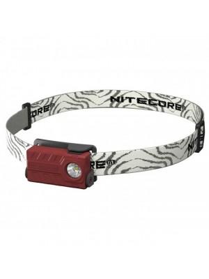 Nitecore NU20, Lanterna Frontala, Reincarcabila USB, Rosie, 360 Lumeni, 80 Metri