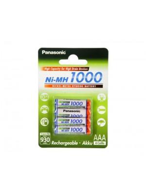 Panasonic BK-4HGAE/4BE, Acumulatori AAA, 1000 mAh, NiMH, Blister 4