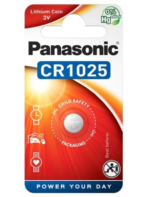 Panasonic CR-1025EL, Baterie Litiu CR1025, 3V, Blister 1