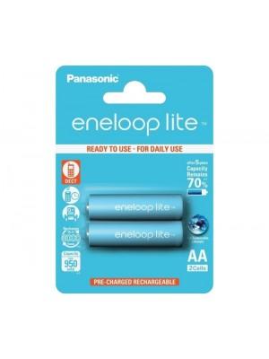 Panasonic Eneloop Lite HR-3UQ-2BP, Acumulatori AA R6, 1000 mAh, NIMH, Blister 2