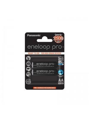 Panasonic Eneloop Pro BK-3HCDE/2BE, Acumulatori AA, 2500 mAh, NiMH, Blister 2
