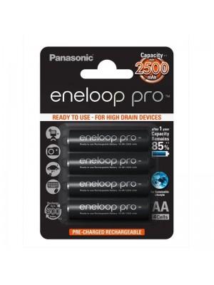 Panasonic Eneloop Pro BK-3HCDE/4BE, Acumulatori AA, 2500 mAh, NiMH, Blister 4