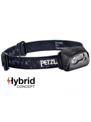 Petzl Actik®, Lanternă Frontală, 300 Lumeni, 90 Metri