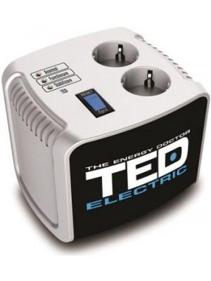 TED Electric, Stabilizator de tensiune, AVR, 1000VA, Argintiu