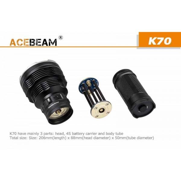 AceBeam K70, Lanternă Profesională