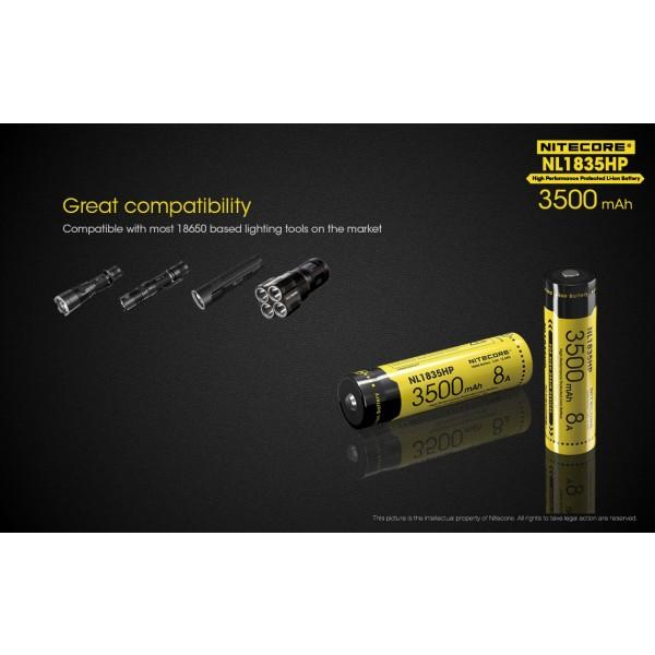Acumulator Nitecore 18650 Li-Ion 3500 mAh NL1835HP cu PCB 8A
