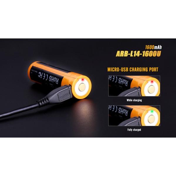 Acumulator Fenix ARB-L14-1600U 1600 mAh (Cu Micro-USB)