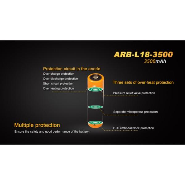 Acumulator Fenix ARB-L18-3500U 18650 Li-Ion 3500 mAh