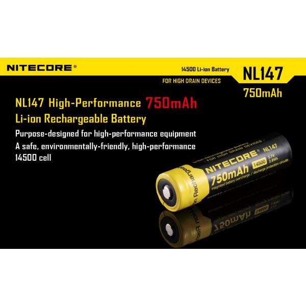 Acumulator 14500 Li-Ion 750 mAh Nitecore (NL147)