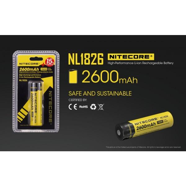 Acumulator Nitecore 18650 Li-Ion 2600 mAh NL1826 cu PCB