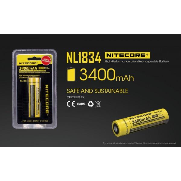 Acumulator Nitecore 18650 Li-Ion 3400 mAh NL1834 cu PCB