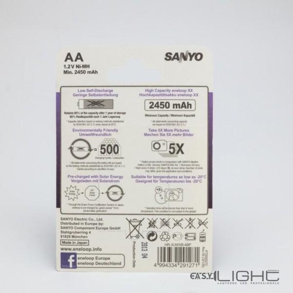 Acumulatori AA Eneloop R6 2450 mAh NiMH HR-3UWXB 4Buc Blister