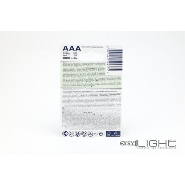 Acumulatori AAA Varta R3 1000 mAh NiMH 4Buc Blister