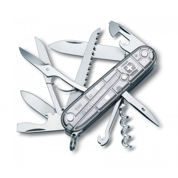 Briceag multifunctional Victorinox Huntsman (Swiss Army Knives) Silver Tech