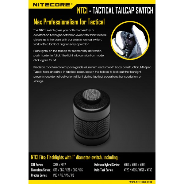 Buton Întrerupător Nitecore NTC1