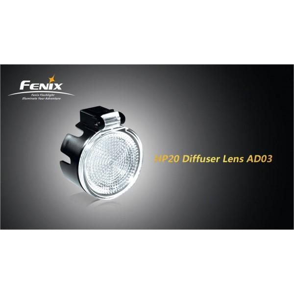 Lentila difuzor pentru modelul Fenix HP20