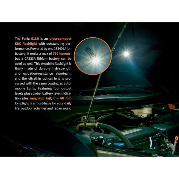 Fenix E18R, Lanterna Reincarcabila