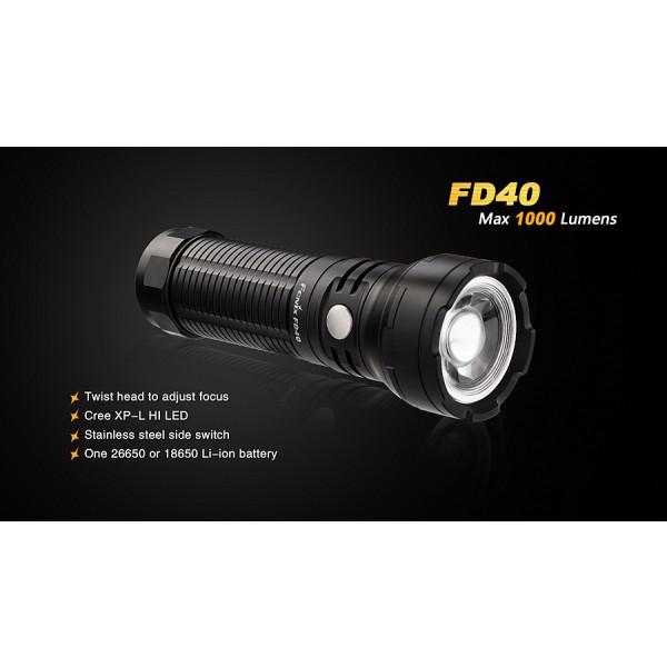 Fenix FD40, lanternă cu focus reglabil