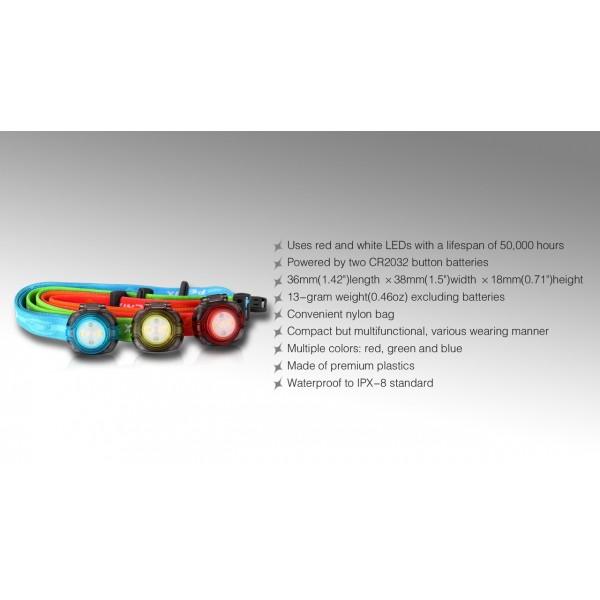 Fenix HL05 (Lanternă LED Frontală, Verde)