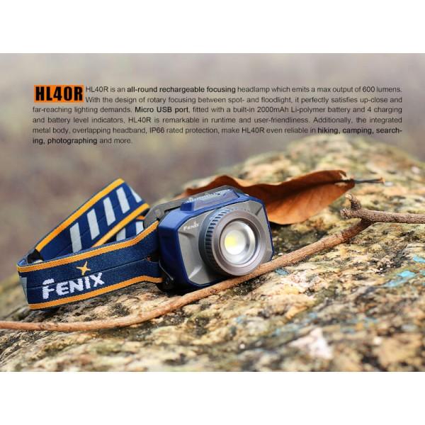 Fenix HL40R, Lanternă Frontală
