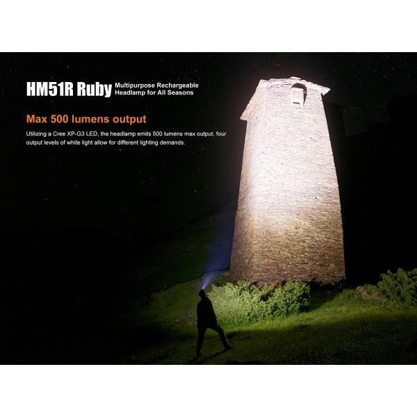 Fenix HM51R, Lanterna Frontală