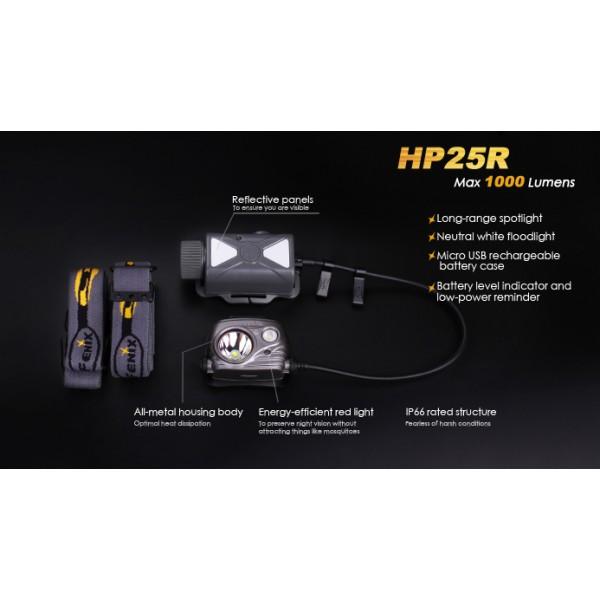 Fenix HP25R (Frontală Reîncărcabilă)