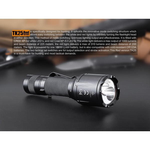Fenix TK25, Led Rosu, Lanterna Led