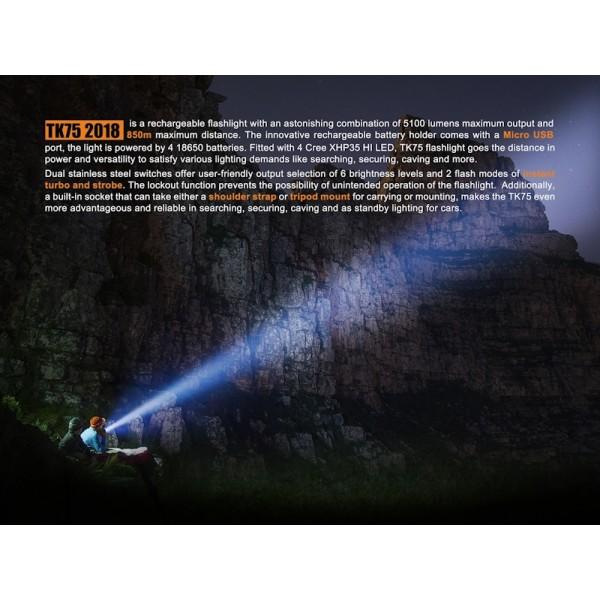 Fenix TK75, Lanternă Reîncărcabilă
