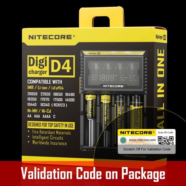 Digicharger D4 Nitecore, Încărcător Universal
