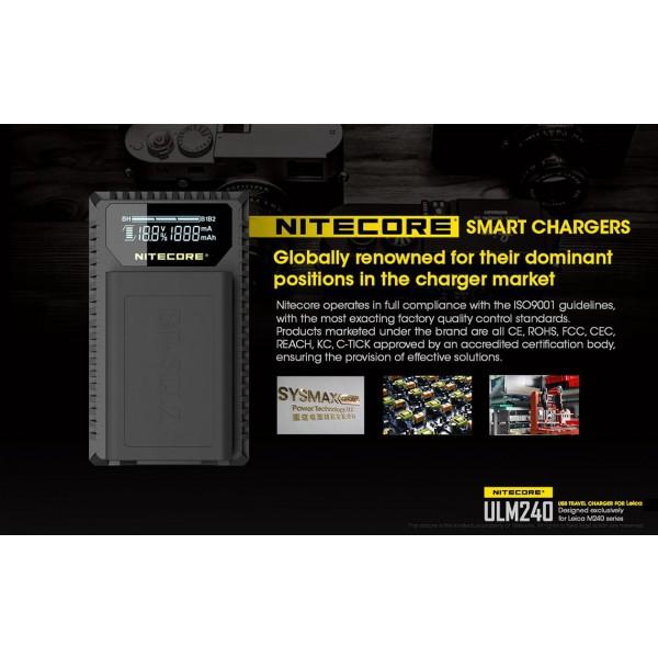Încărcător Nitecore ULM240 Pentru Acumulatori De Camere Leica