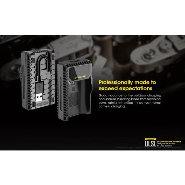 Încărcător Nitecore ULSL Pentru Acumulatori De Camere Leica