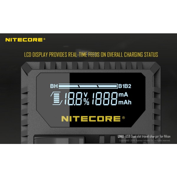 Incarcator Nitecore UNK1 Pentru Acumulatori De Camere Nikon