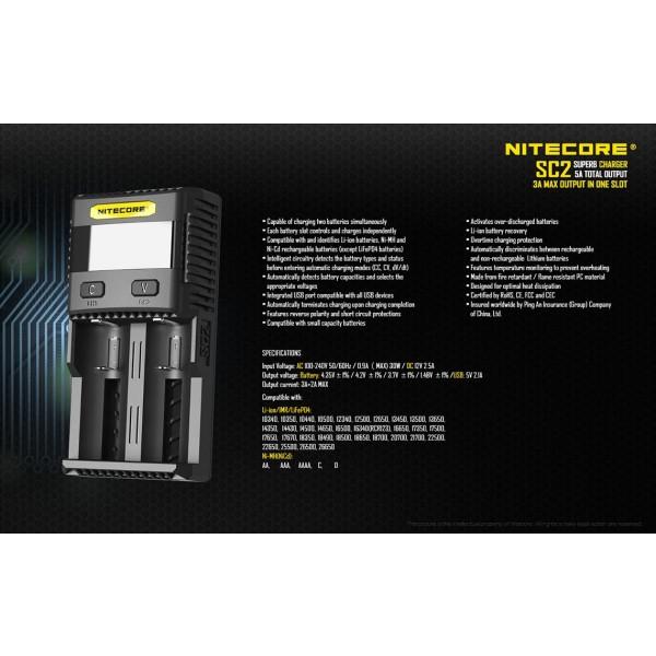 Incarcator universal accelerat Nitecore SC2