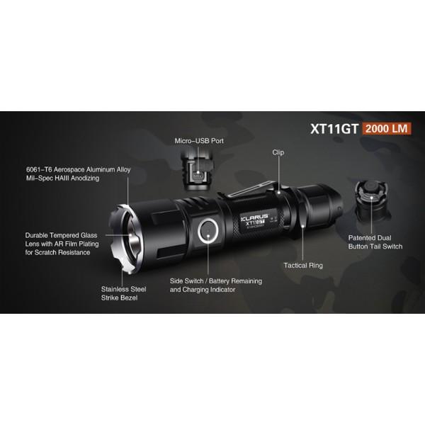 Klarus XT11GT, Lanternă Tactică