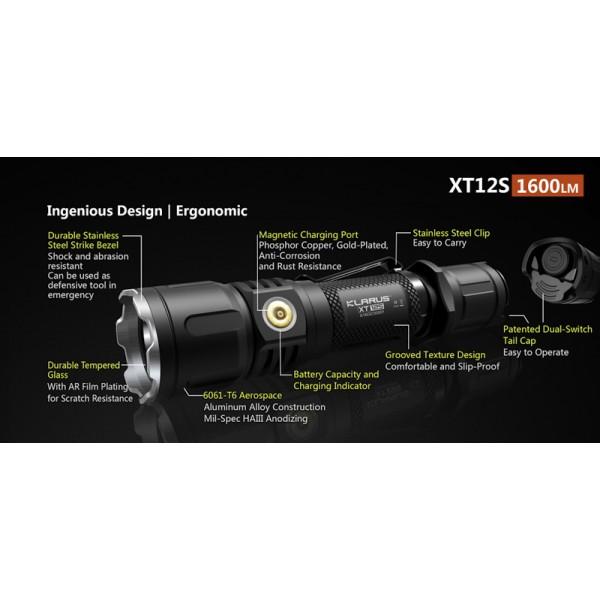 Klarus XT11GT, Lanternă Reîncărcabilă
