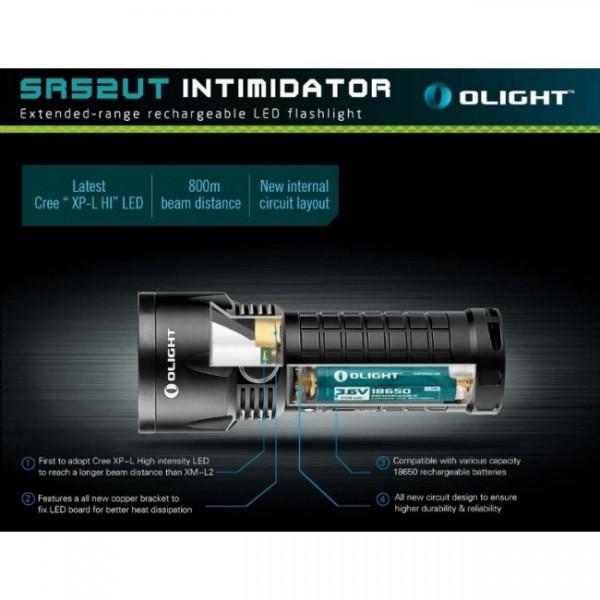 Lanternă LED Olight SR52-UT Intimidator (Încărcare USB)