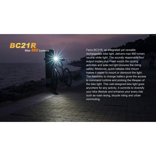 Lanternă reîncărcabilă pentru bicicletă Fenix BC21R