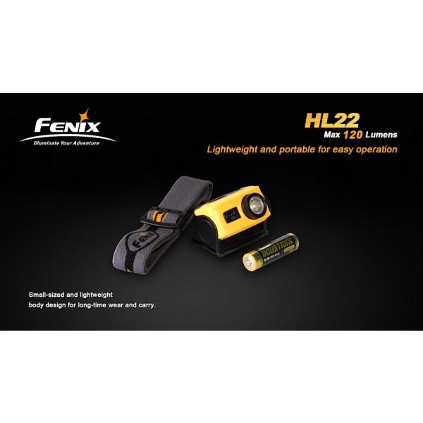 Lanterna LED Frontala Fenix HL22 XP-E R4 (carcasă galbenă)